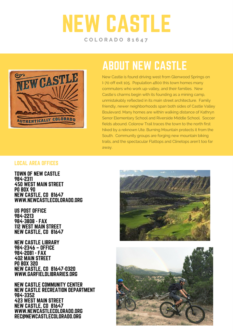 New Castle Colorado Information Booklet