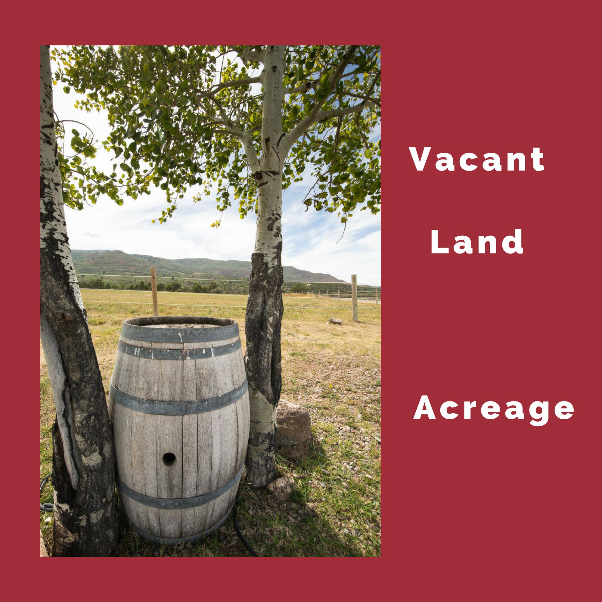 Vacant Land Acreage